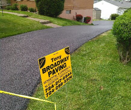 Tony Broadway Paving residential work in North Huntingdon, PA.